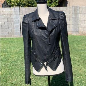 FOREVER 21 Moto Jacket Black Faux Leather